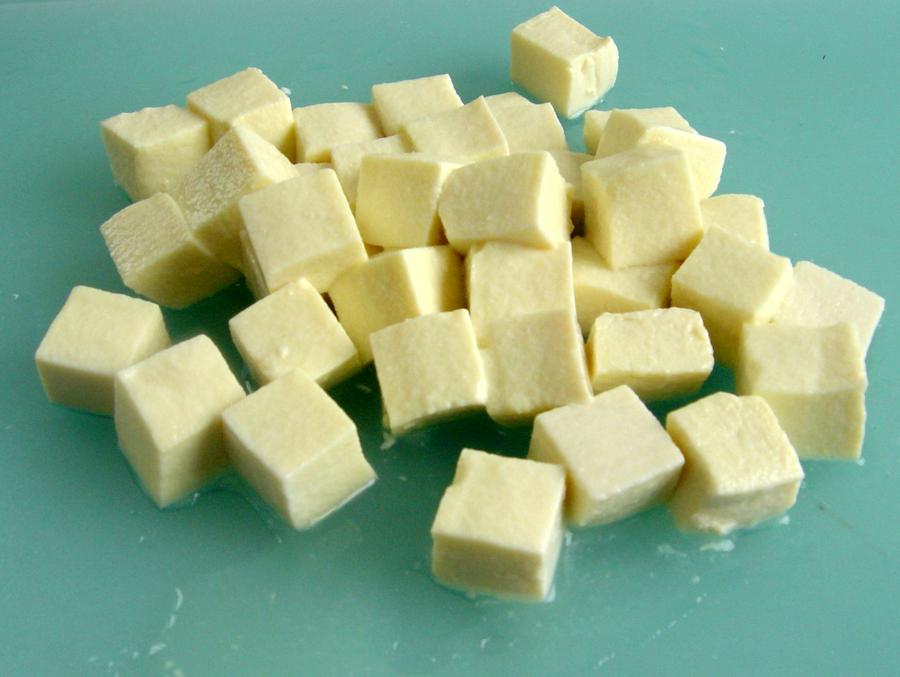 【カット例】豆腐さいの目
